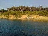 eau transparente porqueroles zoom eau et plage sable fins