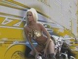 Blondie on a chopper