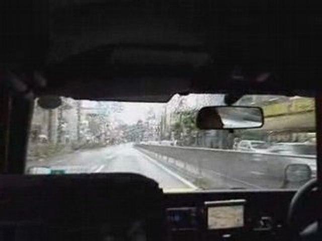 Taxi dans les rues de Tokyo