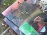 peinture aérosol spray space painting tableau