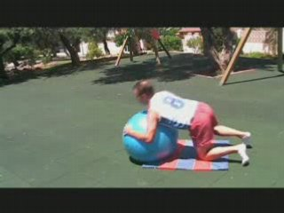UK Wellness Coach Noel Lyons: Fitball Ab Exercises Outdoors