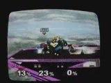 Super Smash Bros Melee : Falco VS 2 CPU Bowser + Roy LVL 9