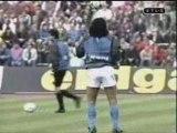 Diego Armando Maradona à l'echauffement