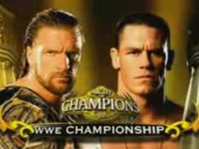 Night of Champions 2008 John Cena vs Triple H Promo