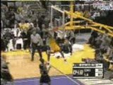 NBA BSKETBALL Shaquille O'Neal - Blocks and then Kobe dunks