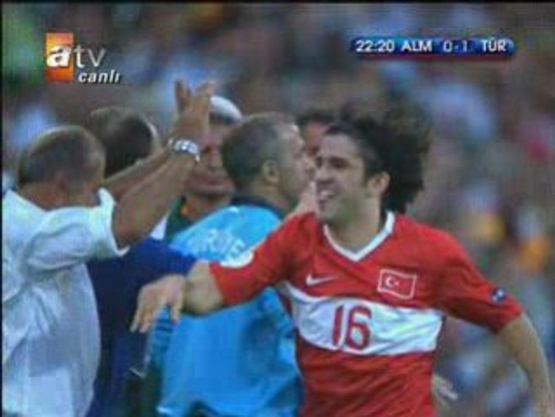 Türkiye - Almanya - Türkiye 1nci Gol