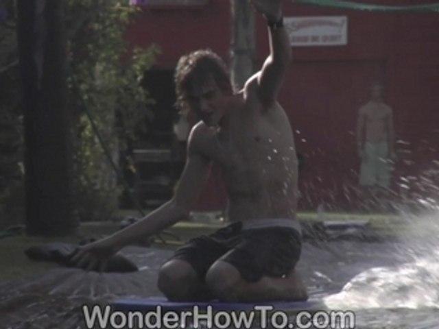 Giant Slip N' Slide Knee boarding in the Summer