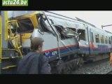 ACTU24 Collision de trains à Hermalle-sous-Huy: 1res images