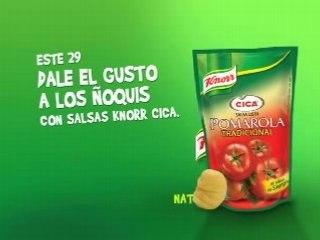 Salsas Knorr Cica-Dale el gusto a los noquis