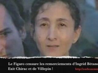 Les remerciement d'Ingrid Bétancourt vue par le Figaro