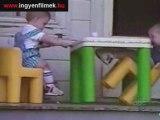 chutes gamelles de bébés