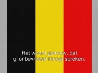 La brabanconne, en francais,nederlands,and dutch