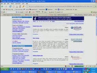 online degree college university search masters associate
