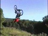 Bmx bike back flip crash