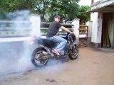 Burn out gsxr 1100