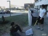 Dude Takes Wiffle Ball Bat to the Head