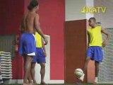 Brasilian footballler, Ronaldinho, Roberto Carlos Joga TV
