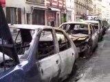 Incendie voitures au petit matin