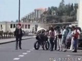 Motorcycle Wheelie Goes Bad