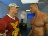 WWE Raw 7/28/08 John Cena & Batista Backstage