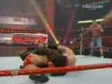 WWE Raw 7/28/08 John Cena & Batista vs JBL & Kane (2/2)