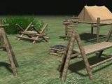 Les Scouts et Guides de France, un camp en 3D sgdf  Pilotis