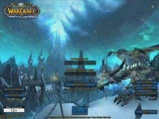 Wrath of the Lich King : Ecran de login