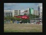 Decollage d'une Alouette III securite civile Juillet 2008