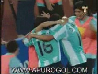Argentina 3 Brasil 0 Goles Kun Aguero Riquelme