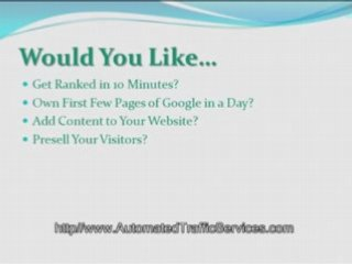 Get High Website Traffic, Want High Website Traffic?