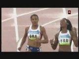 JO 2008 France Demi-finales du relais 4x100 mètres féminin
