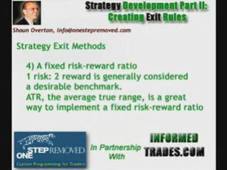 Creating Exit Rules for Your Trading Strategy