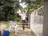 sauts d'obstacles a pied vek lola ki aboit !! :)
