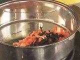Recette Bio : Courgettes farcies aux petits légumes