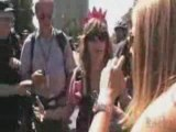 DNC Protests: Police slam CodePink protester to the ground