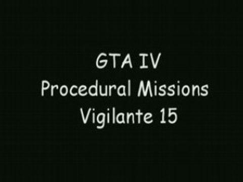 GTA IV mission vigilante 15