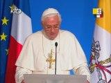 Discours de Benoît XVI à l'Elysée