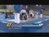 Sabre handisport, petite finale de M.-A. Cratère, JP 2008