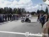Un burn à moto qui se termine mal