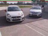 Les voitures d'essai sur le circuit de Chenevières