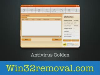 Antivirus Golden win32 virus removal software