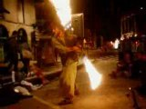 festival d'arts de rue (aurillac 08), cordes en flamme