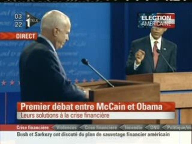 Extrait premier débat entre Mc Cain et Obama