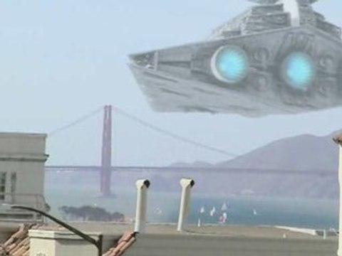 Death Star over San Francisco