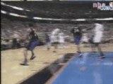 NBA basketball -Allen Iverson dunks on Vince carter