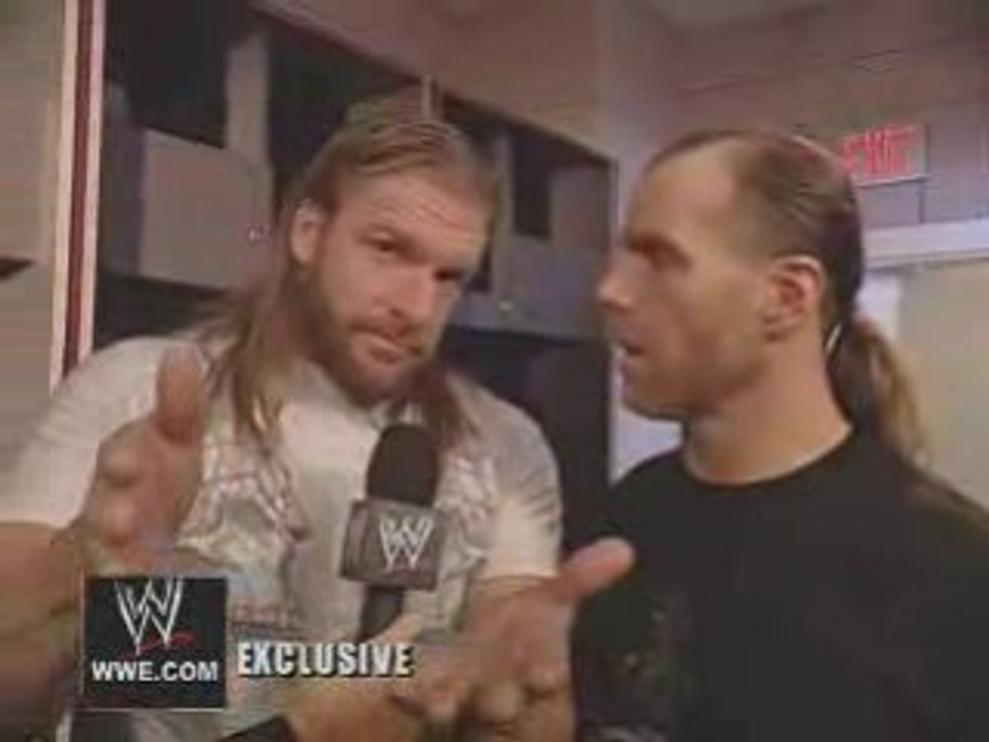 WWE EXCLUSIVE hbk hhh interview
