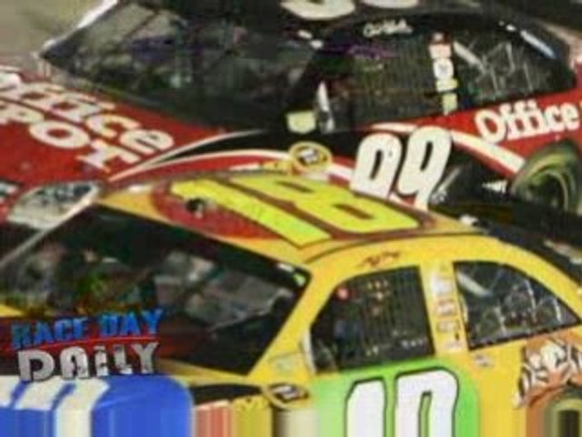 Carl Edwards Gives Kyle Busch The Boot