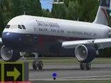 A320-111 kiss landing in Le Lamentin (TFFF) Martinique FS9