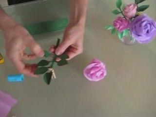 Comment Fabriquer Des Roses En Papier Crepon Apprendre Facile