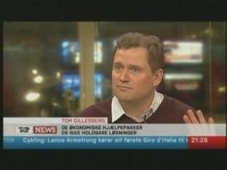 Schiller Instituttets formand på TV2 News den 13. okt. 2008